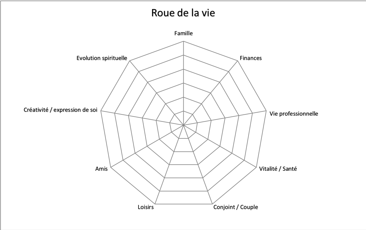 roue de la vie template